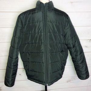 Old Navy Men's Green Puffer Coat Sz Medium
